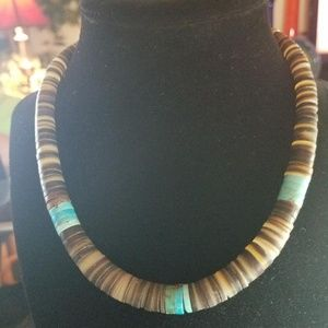 Vintage Heishi and Turquoise necklace